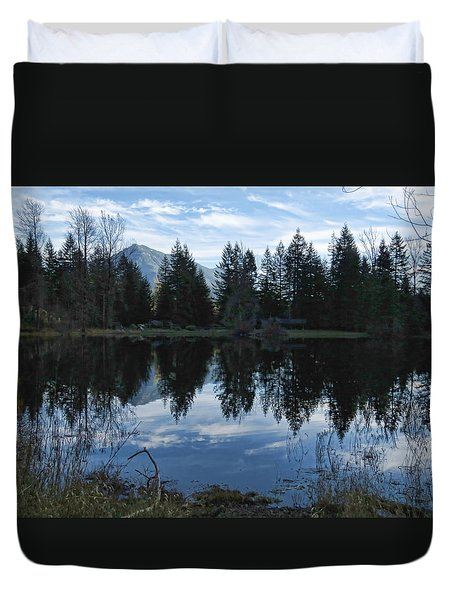 Brewster Lake North Bend Wa Duvet Cover