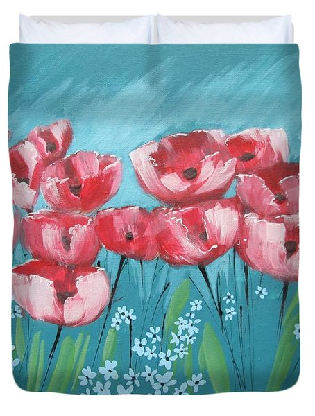 Brezzy Poppies Duvet Cover