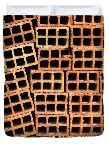 Brick Abstract Duvet Cover by Vivian Christopher