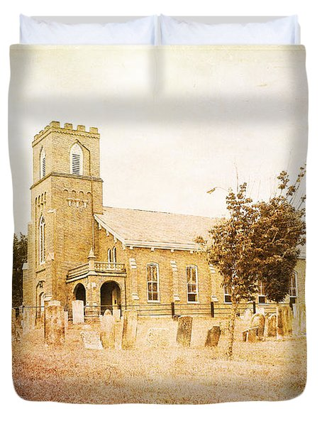 Brick Church In Montgomery Duvet Cover