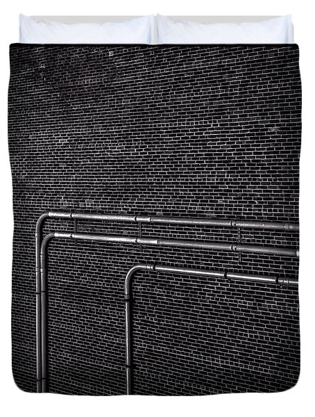 Brick Wall Duvet Cover by Bob Orsillo