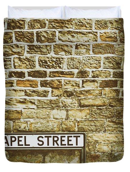 Brick Wall Duvet Cover by Amanda Elwell