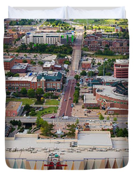 Bricktown Ballpark A Duvet Cover by Cooper Ross