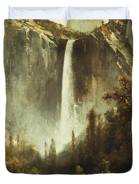 Bridal Falls Duvet Cover by Thomas Hill