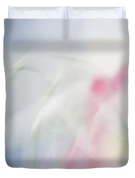Duvet Cover featuring the photograph Bridal Veil by Annie Snel