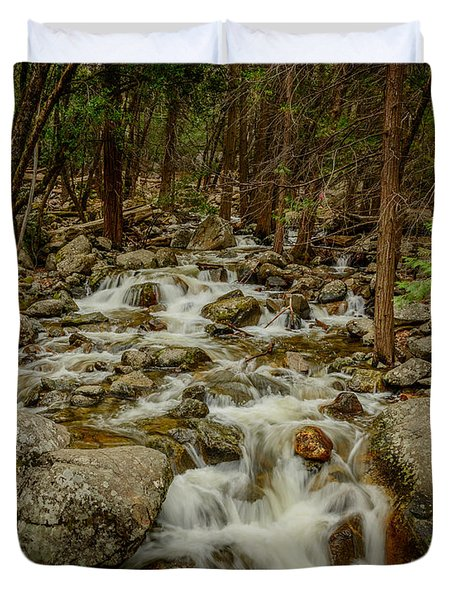 Bridalveil Creek In Yosemite Duvet Cover