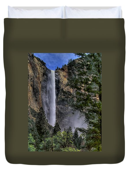 Bridalveil Falls Duvet Cover by Bill Gallagher