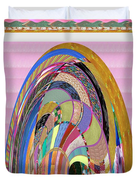 Bride In Layers Of Veils Accidental Discovery From Graphic Abstracts Made From Crystal Healing Stone Duvet Cover by Navin Joshi