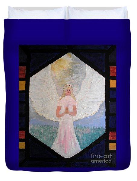 Angel In Prayer  Duvet Cover