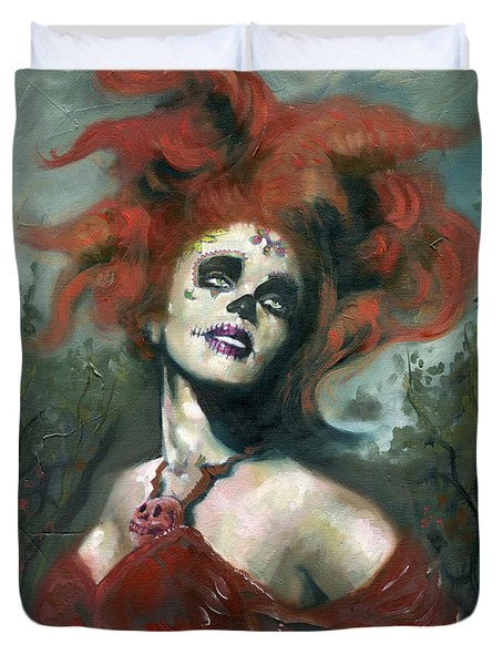 Bride Of The Dead Duvet Cover by Luis  Navarro