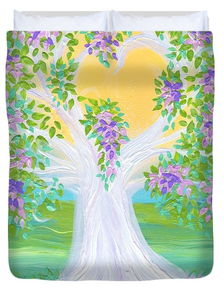 Bride's Tree Purple Duvet Cover by First Star Art