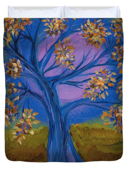 Bridesmaid Tree Blue Duvet Cover by First Star Art