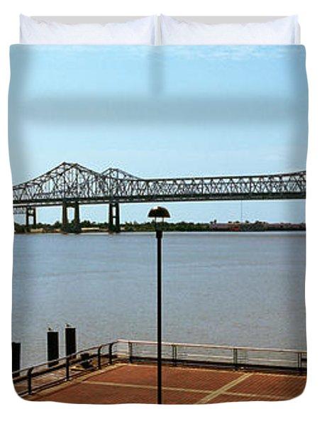 Bridge Across A River, Crescent City Duvet Cover