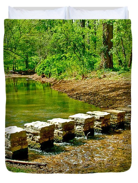 Bridge Across Colbert Creek At Mile 330 Of Natchez Trace Parkway-alabama Duvet Cover