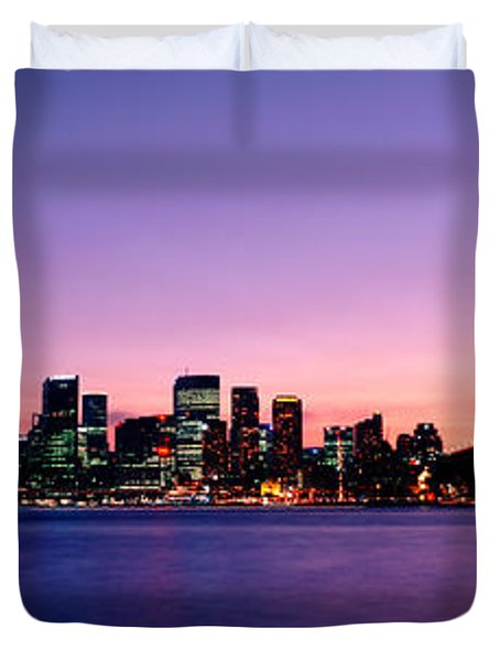 Bridge Across The Sea, Sydney Opera Duvet Cover by Panoramic Images