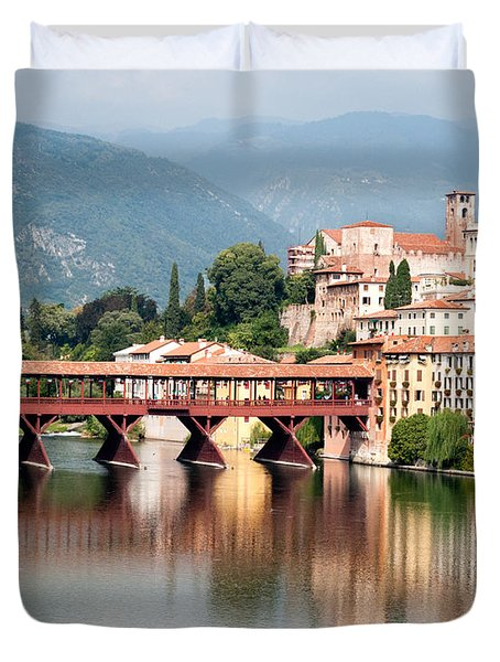 Bridge At Bassano Del Grappa Duvet Cover