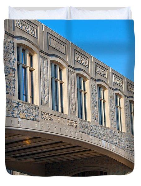 Bridge At Virginia Tech Duvet Cover