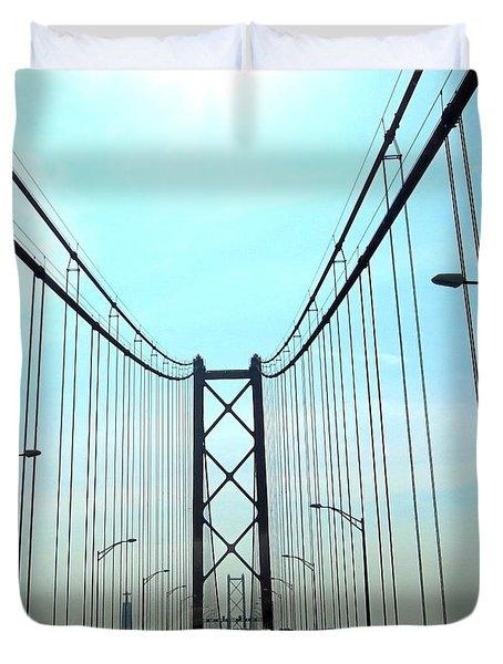 Bridge Crossing Duvet Cover