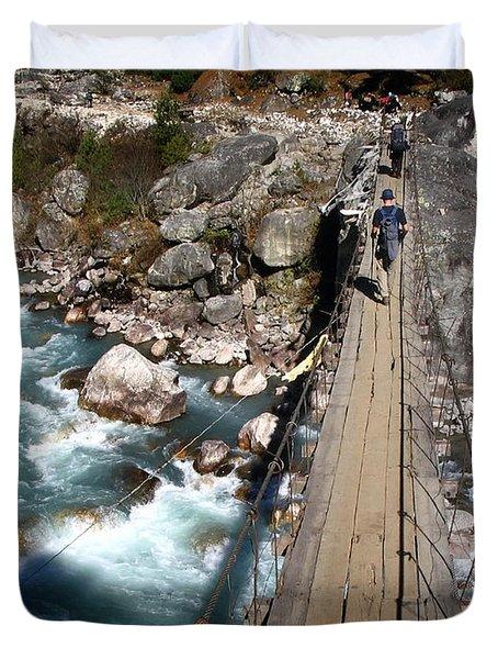 Bridge Crossing Duvet Cover by Tim Hester