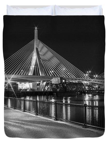 Bridge In Boston Duvet Cover by John McGraw