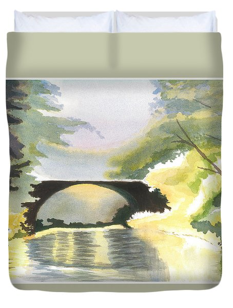 Bridge In Shadows Duvet Cover