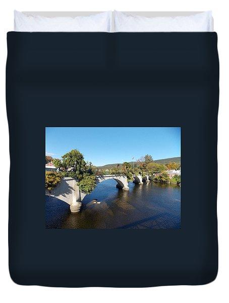 Bridge Of Flowers Duvet Cover