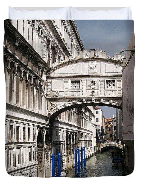 Bridge Of Sighs Duvet Cover by Ellen Henneke