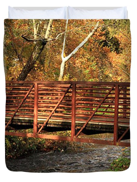 Bridge On Big Chico Creek Duvet Cover by James Eddy