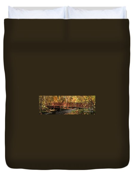 Bridge On Big Chico Creek Duvet Cover