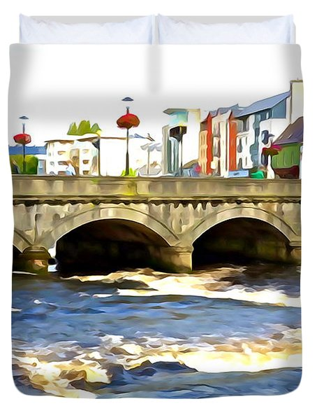 Bridge On The Garavogue Duvet Cover