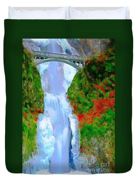 Bridge Over Beautiful Water Duvet Cover