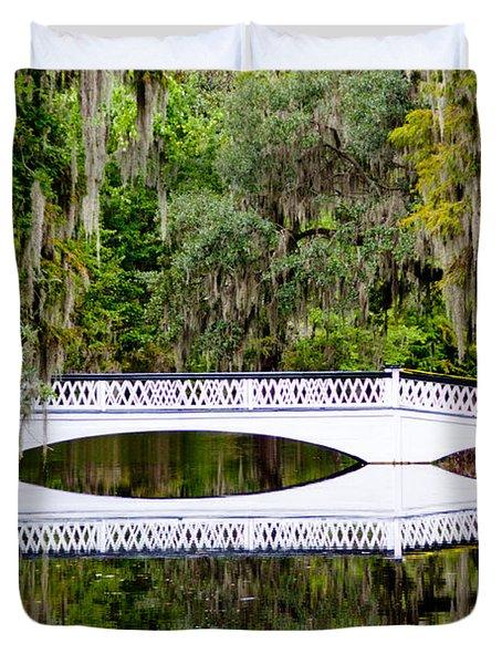 Bridge Over Silent Waters Duvet Cover by Jean Haynes