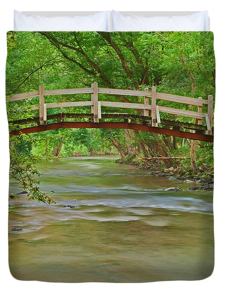 Bridge Over Valley Creek Duvet Cover