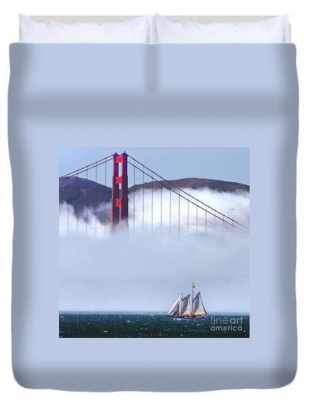 Bridge Sailing Duvet Cover