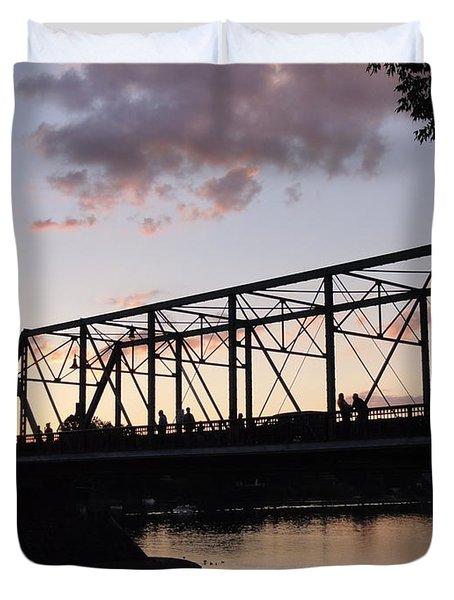 Bridge Scenes August - 1 Duvet Cover
