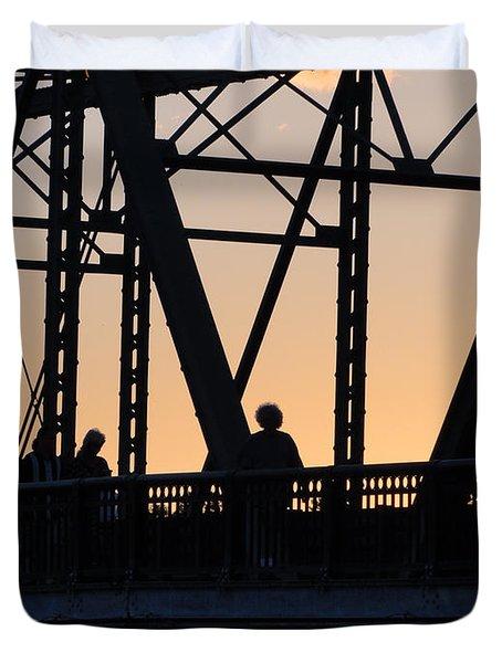 Bridge Scenes August - 2 Duvet Cover