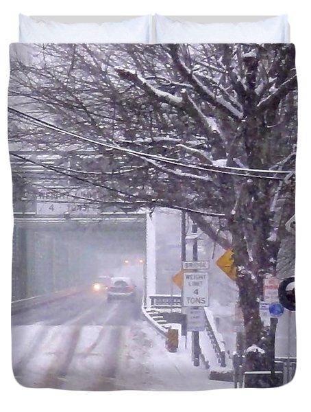 Bridge Street To New Hope Duvet Cover