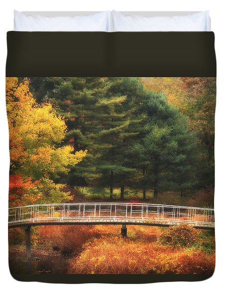 Bridge To Autumn Duvet Cover