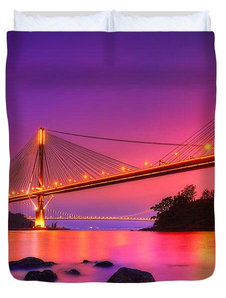 Bridge To Dream Duvet Cover by Midori Chan
