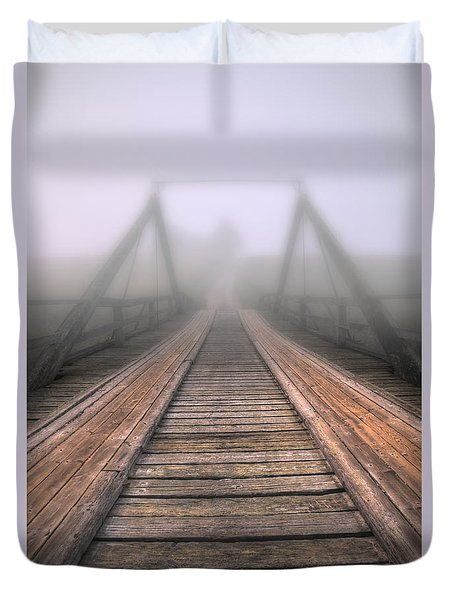 Bridge To Fog Duvet Cover by Veikko Suikkanen