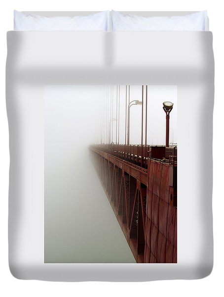 Bridge To Obscurity Duvet Cover by Bill Gallagher