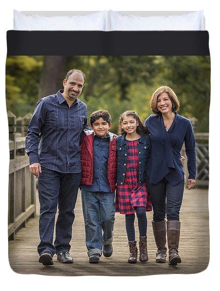 Bridge Walk - Group Hug Duvet Cover