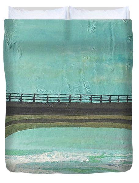 Bridge Where Waters Meet Duvet Cover by Joseph Demaree