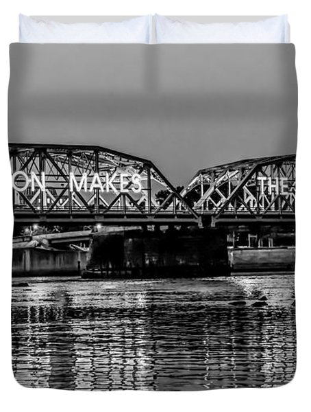 Trenton Makes Bridge Duvet Cover