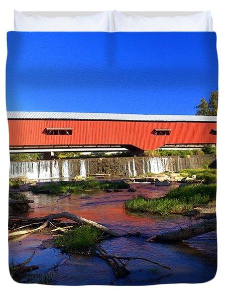 Bridgeton Covered Bridge 1 Duvet Cover by Marty Koch