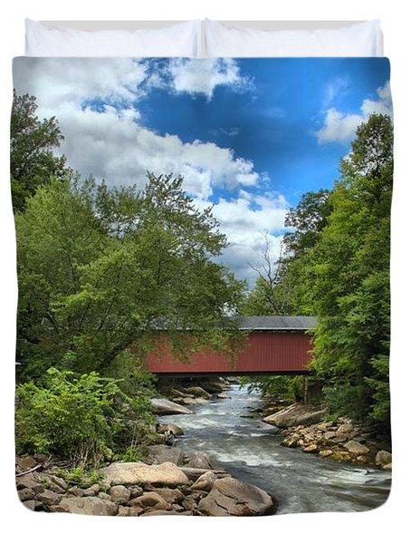 Bridging Slippery Rock Creek Duvet Cover