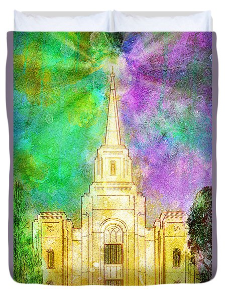The Heavens Were Opened Duvet Cover by Greg Collins