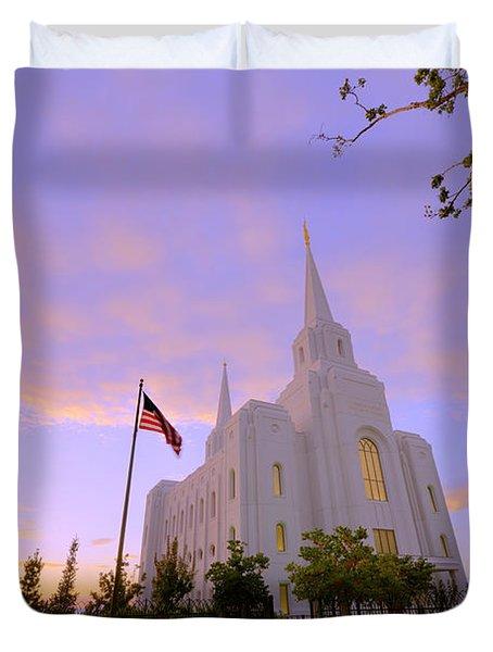 Brigham City Temple I Duvet Cover