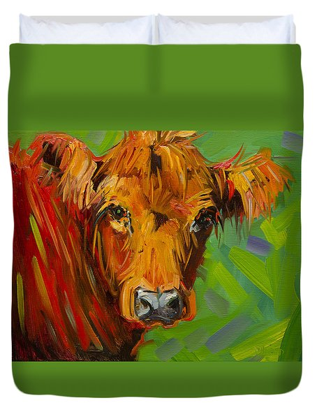 Bright And Beautiful Cow Duvet Cover