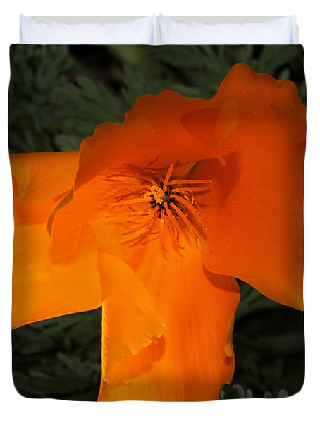 Bright California Poppy Duvet Cover